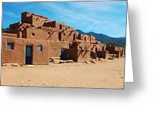 Taos Pueblo 4 Greeting Card