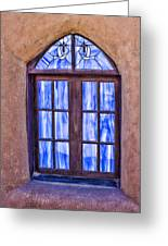 Taos Pueblo Church Window Greeting Card