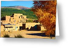 Taos Pueblo South In Autumn Greeting Card