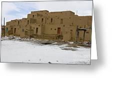 Taos Pueblo With Snow Greeting Card
