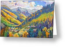 Taos Ski Area Greeting Card
