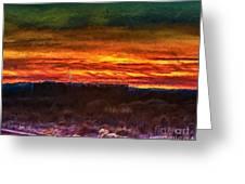 Taos Sunset Lx - Homage Turner Greeting Card