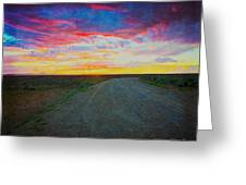 Taos Sunset On Rice Paper Greeting Card