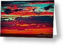 Taos Sunset Xix Greeting Card