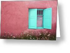 Taos Window I Greeting Card