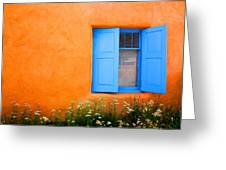 Taos Window IIi Greeting Card