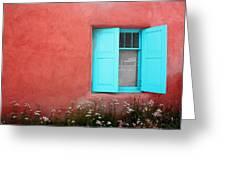 Taos Window Iv Greeting Card