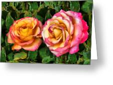 Tapestry - Roses And Thorns Greeting Card