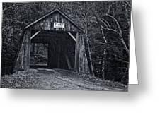 Tappan Covered Bridge Bw Greeting Card