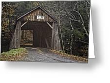 Tappan Covered Bridge Greeting Card