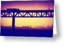Tappan Zee Bridge Iv Greeting Card