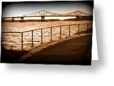 Tappan Zee Bridge Ix Greeting Card