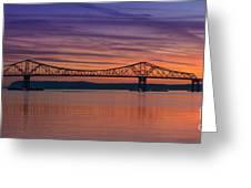 Tappan Zee Bridge Sunset Greeting Card