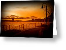 Tappan Zee Bridge Viii Greeting Card