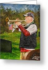 Taps For Troops Greeting Card