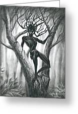 Tar Girl In A Tree Greeting Card