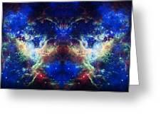 Tarantula Nebula Reflection Greeting Card by Jennifer Rondinelli Reilly - Fine Art Photography