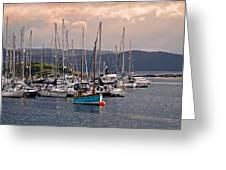 Tarbet Harbor At Sunrise Greeting Card