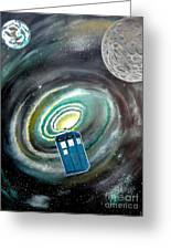 Tardis Greeting Card by John Lyes
