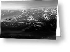 Target Tirpitz In Sight Black And White Version Greeting Card