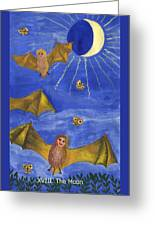 Tarot 18 The Moon Greeting Card