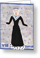 Tarot 8 Justice Greeting Card