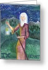 Tarot 9 The Hermit Greeting Card