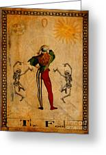 Tarot Card The Fool Greeting Card