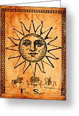 Tarot Card The Sun Greeting Card by Cinema Photography