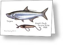 Tarpon And Creek Chub Tarpon Lure 1933 Greeting Card
