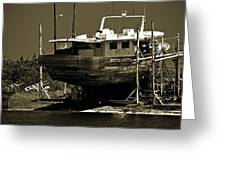 Tarpon Springs Sponge Boat Greeting Card