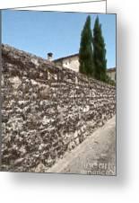 Tarquinia Muro Di Cinta Con Cipressi Greeting Card