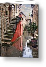 Tarquinian Red Stairs Greeting Card