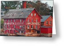 Tarr And Wonson Paint Manufactory Greeting Card