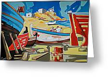 Tarsanas-boatyard Greeting Card