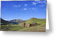 Tash Rabat Caravanserai In The Tash Rabat Valley Of Kyrgyzstan  Greeting Card