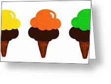 Taste The Ice Cream Rainbow Greeting Card