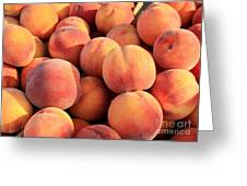 Tasty Peaches Greeting Card by Carol Groenen