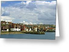Tate Hill Pier And The Shambles - Whitby Greeting Card