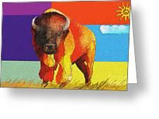 Tatonka Greeting Card by GCannon