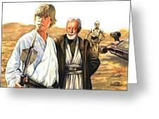 Tatooine Massacre Greeting Card