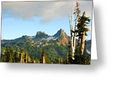 Tatoosh Range In August. Mt Rainier National Park Greeting Card