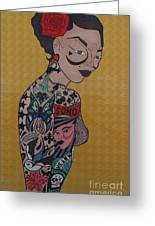 Tattoo Chic Gold Greeting Card