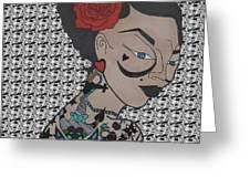 Tattoo Chic Pattern Greeting Card