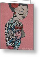 Tattoo Chic Pink Greeting Card