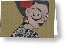 Tattoo Chic Sand Greeting Card