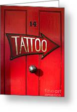 Tattoo Door Greeting Card
