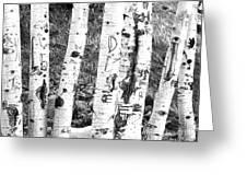 Tattoo Trees Greeting Card