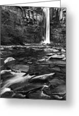 Taughannock Black And White Greeting Card