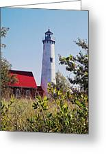 Tawas Point Lighthouse...from Tawas Bay Side Greeting Card